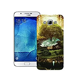 Zapcase Printed Back Case For Samsung Galaxy A8