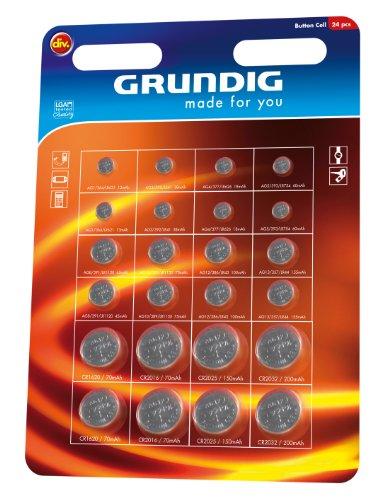 Pile / Batterie a bottone Grundig LR621, LR41, LR626, LR754, LR1120, LR1130,LR43, LR44 , CR1620, CR2016, CR2025, CR2032