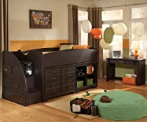 Hot Sale Standard Furniture Hideout 2 Piece Kids' Loft Bedroom Set In Dark Pecan