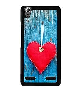 Red Heart 2D Hard Polycarbonate Designer Back Case Cover for Lenovo A6000 :: Lenovo A6000 Plus :: Lenovo A6000+