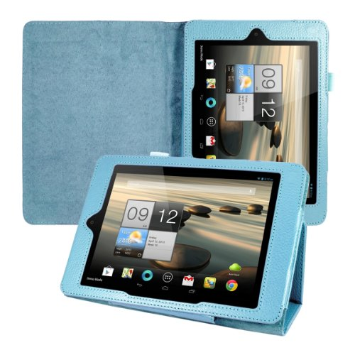 kwmobile Hülle für Acer Iconia A1-810 / A1-811 mit Standfunktion - Kunstleder Tablet Case Cover Tasche Schutzhülle in Hellblau