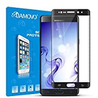 AMOVO® Galaxy Note 7 Screen Protector, [Full Coverage] [3D Tempered Glass] Curved Tempered Glass Screen Protector for Samsung Galaxy Note 7 [9H Hardness] [Anti-Scratch] [Ultimate Clarity] (Black) from AMOVO