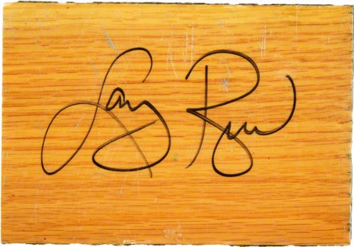 Larry Bird Boston Celtics Autographed Garden 4x6 Blonde Parquet Floor Piece Piece