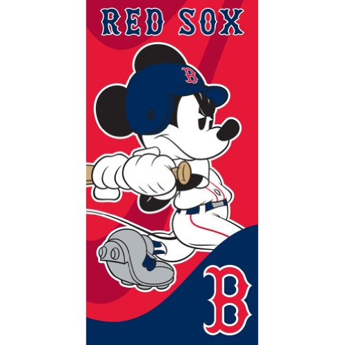 Boston Red Sox - Mickey Batting Velour Beach Towel at Amazon.com