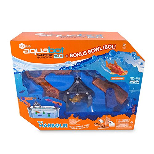 Red blue shark hexbug aquabot 2 0 the harbor crane and for Aquabot smart fish