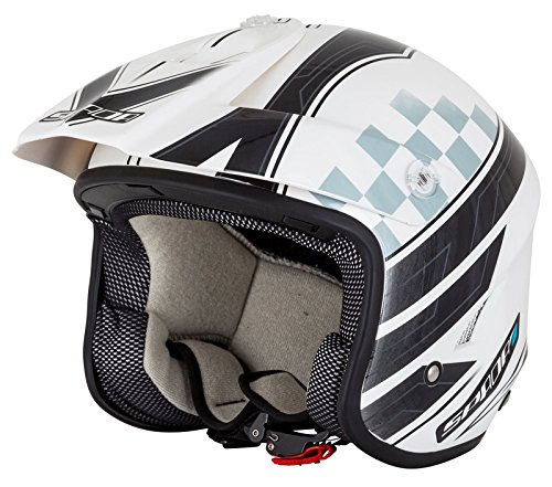 Spada Motorcycle Helmet Edge Explorer Trials White/Black