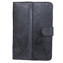 7&Seven G1 EUROPA SUEDE SMOKEY FLIP FLAP CASE COVER POUCH STAND FOR HCL ME U1 TAB TABLET 7