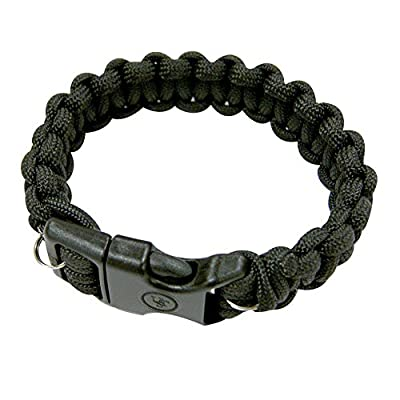 "UST Paracord Bracelet with Wire Saw, Black, 8"""