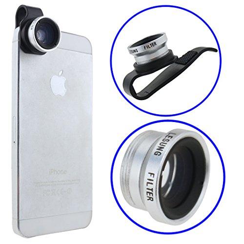 Ancerson Universal Lens Camera Lens Kit 180 Degree Fish Eye Lens For Smartphones Mobile Phones: Iphone 3 3G 3S 4 4S 5 5C 5S, Samsung Galaxy S4 I9500/ S5 I9600/Note 2 N7100/ Note 3 N9000/ Mega 6.3 I9200/ Mega 5.8 I9152, Htc One M7/ X/ Max/ M8, Lg Nexus 5,