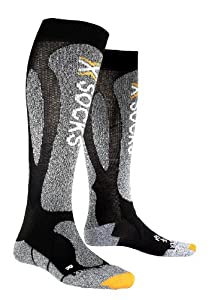 X-Socks Ski Carving Unisex Skiing Socks Silver black/grey melange Size:35-38