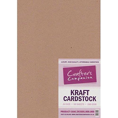 crafters-companion-cartulinas-de-papel-kraft-tamano-a4-280-gsm-50-unidades-color-marron