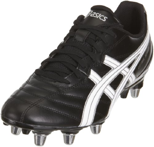 ASICS Men's Lethal Scrum Black/Silver/White Rugby Boot P031Y 9093 12 UK