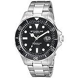 Reloj de pulsera Stuhrling Original 824.01 Aqueadiver de acero inoxidable para hombre.