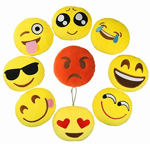 Cevinee-4-Set-of-9-Mini-Emoji-Plush-Pillows-Set-Cute-Emoji-Party-Favor-for-Kids