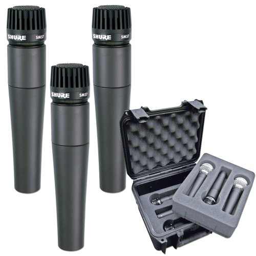 Shure 3 X Sm57 And Tour Grade Mic Case Pack