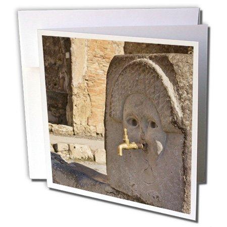 Danita Delimont - Italy - Italy, Campania, Pompeii. Fountain on Via Stabia - EU16 BJA0111 - Jaynes Gallery - 6 Greeting Cards with envelopes (gc_82060_1)