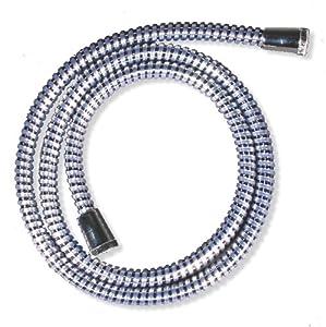 Croydex - Flexo de ducha de PVC reforzado, color metálico, 1,5 m   Más información y revisión del cliente