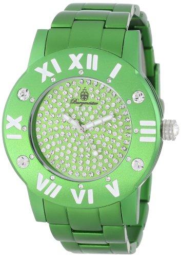 Burgmeister Aluminium Magic Women's Quartz Watch with Green Dial Analogue Display and Green Bracelet BM163-090B