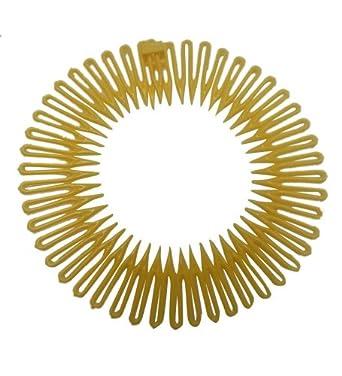 Yellow Circular Flexible Hair Combs Headband