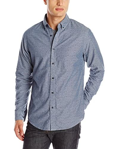 Dockers Men's Long Sleeve Modern Fit Small Anchor Print Shirt
