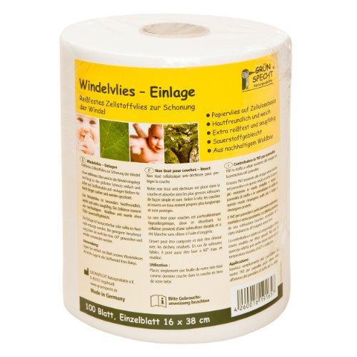 Grünspecht 165-00 Windelvlies-Einlage, 100 Blatt