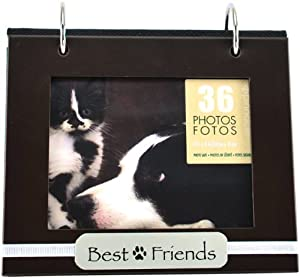 Pinnacle Frames and Accents Pet Best Friends Tabletop Flip 36-Pocket Photo Album