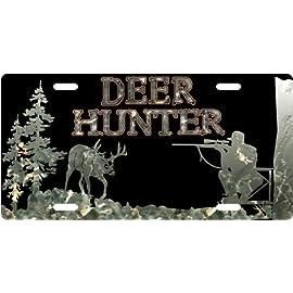 Deer Hunter - Camo Custom License Plate Novelty Tag from Redeye Laserworks