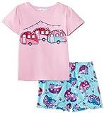 Minizzz Girl's Caravan T-Shirt/Boxer Pyjama Set