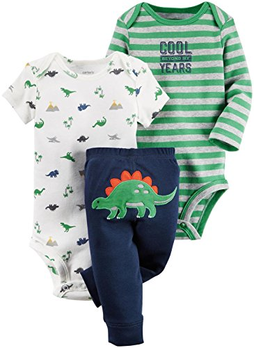 Carter's Baby Boys 3 Pc Back Art , Stegosaurus, 24 Months