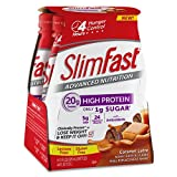 Slim Fast Advanced Nutrition, Meal Replacement Shake, High Protein, Caramel Latte, 11 Ounce, 4 Count (Pack of 3)