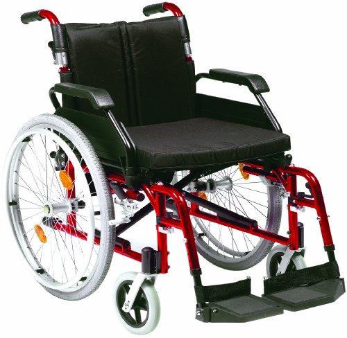 Fauteuil roulant à auto-propulsion en aluminium Assise 45 cm (Rouge)