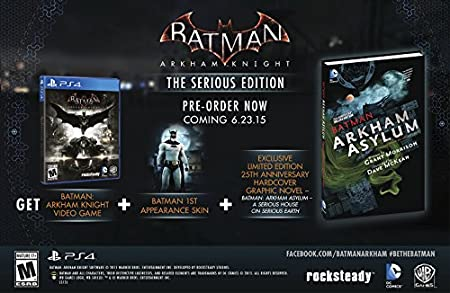 Batman: Arkam Knight - The Serious Edition (Comic Bundle) - PS4