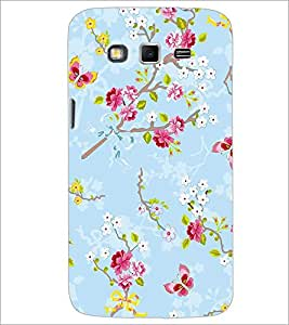 PrintDhaba Flowers and Butterfly D-1156 Back Case Cover for SAMSUNG GALAXY GRAND 2 (Multi-Coloured)