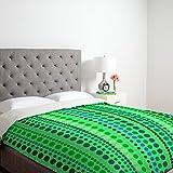 DENY Designs Romi Vega Retro Green Duvet Cover, Queen