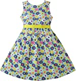 Girls Dress Yellow Daisy Beach Sundress Boutique Child Clothes Size 2-10