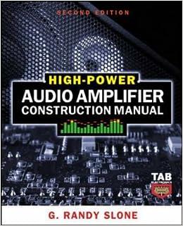 high power audio amplifier construction manual g randy slone 9780071599252 books. Black Bedroom Furniture Sets. Home Design Ideas