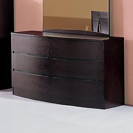 Maya Six Drawer Dresser in Espresso