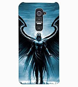ColourCraft Man With Feather Design Back Case Cover for LG G2