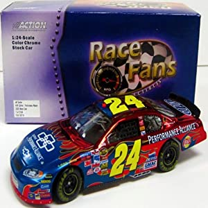 Jeff Gordon Autographed 1:24 Scale Model Car by Hollywood Collectibles
