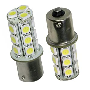 1156 LED bulbs white 18 SMD super bright light for brake reverse tail lamps 2pc