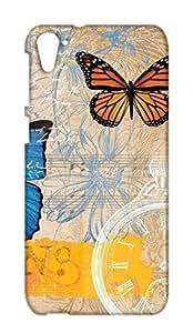 HTC Desire 826 Floral Print Design Mobile Case Hard Back Cover for girls - Printed Designer Cover - HTCD826FLRLB120