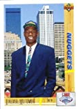 Dikembe Mutombo 1991-92 Upper Deck Rookie Card #3