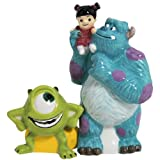 Westland Giftware Monsters Inc Gang Magnetic Ceramic Salt and Pepper Shaker Set, 4-Inch