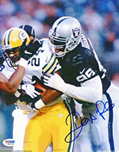 Darrell Russell Autographed Oakland Raiders vs. Packers 8x10 Photo PSA/DNA