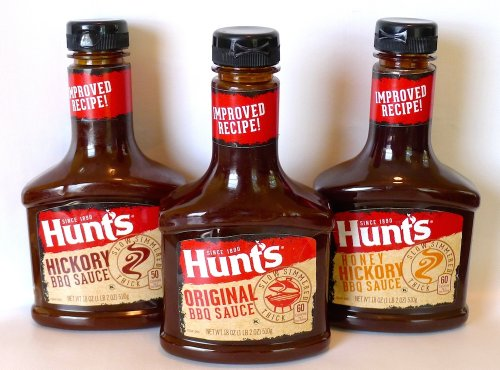 Hunt'S BBQ Sauce 3-Bottle Sampler: Original, Hickory, Honey Hickory (18 Oz. Each)