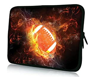"Fire rugby Universal 12.5"" 13"" 13.3 inch Soft Zip laptop Bag sleeve Case Cover for Apple Macbook Pro Air Retina /Dell Adamo Inspiron Studio XPS 13 Ultrabook/ Sony VAIO/Samsung Series 5 9 Ultrabook/HP Envy Folio/Toshiba/Asus/Acer/LENOVO Ideapad Yoga Computer"