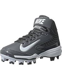 Nike Youth Huarache Strike MD MCS BG High-Top Baseball Cleats Lt Graphite/White US Youth 5Y /UK4.5/EUR37.5