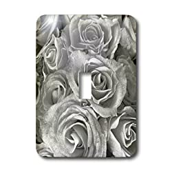 3dRose LLC lsp_29902_1 Close Up Scene of Dreamy Soft Silver Gray Roses Single Toggle Switch by 3dRose