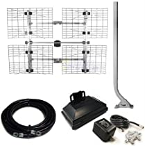 Antennas Direct DB8 Bundle UHF HDTV Antenna, J Mount, Pre-amp and 65 Feet Coax