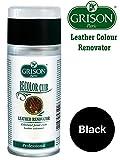 Grison Leather Colour Restorer/ Renovator vinyl Spray/Sofa/Shoes/Seats/Handbags (Black)